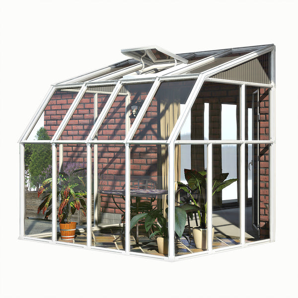 Rion Sun Room 2 Lean To Greenhouse HG7506 6x6, 6x8, 6x10, 6x12 - Green Thumb Houses
