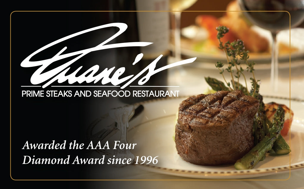 Image of Duane's Prime Steaks and Seafood Restaurant Gift Card