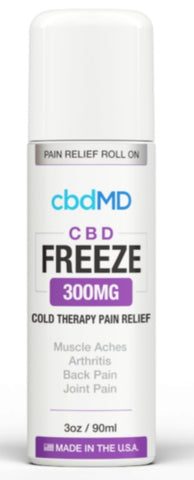CBD MD Freeze Pain Relief 3oz Roller 300mg