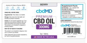 CBD MD Oil - Berry - 300mg