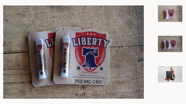 Liberty CBD 750mg Full Spectrum Vape Cart