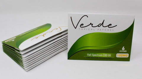 Verde Topical Patches - 100 mg Full Spectrum CBD Oil.