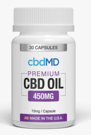 CBD MD Oil Capsules 30 count 450mg