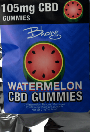 Bhang Watermelon CBD Gummies-105 mg