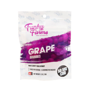 Funky Farms Gummies - Grape 50mg