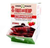 Green Roads Vegan Strawberry Fruit Strips-25mg