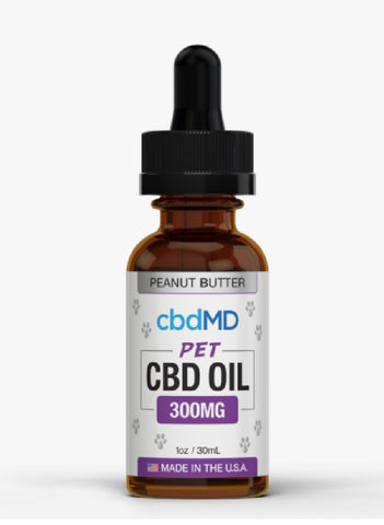 CBD MD Oil for Dogs 30mL Peanut Butter 300mg