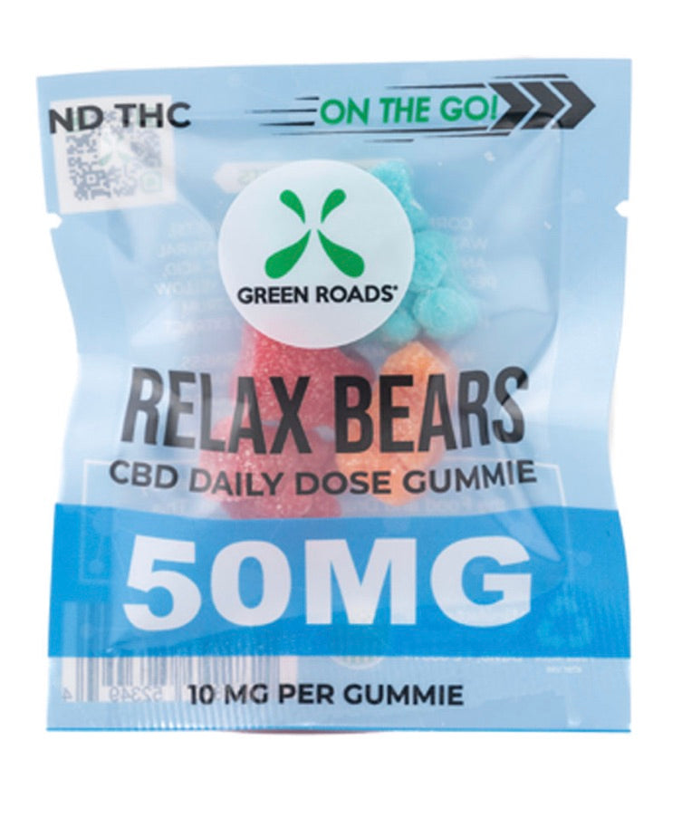 Green Roads Relax Bears 10mg Each - 50 mg Total