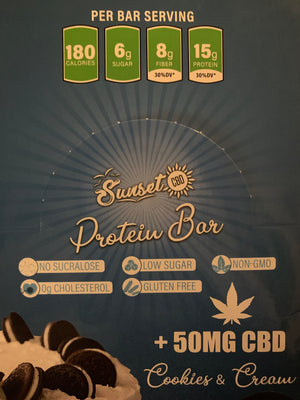 SunSet CBD Protein Bars-50mg