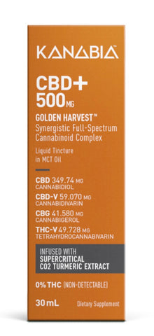 500 mg – Full-Spectrum CBD Oil with Turmeric Extract