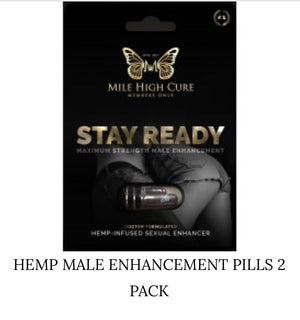 Mile High Cure Hemp Male Enhancement Pills-2 Pack