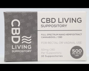 CBD Living Suppositories-500mg