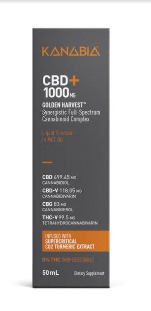Kanabia 1000 mg – Full-Spectrum CBD Oil with Turmeric Extract