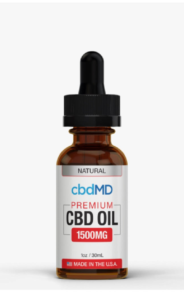 CBD MD Oil Tincture Drops 30mL Berry 1500mg