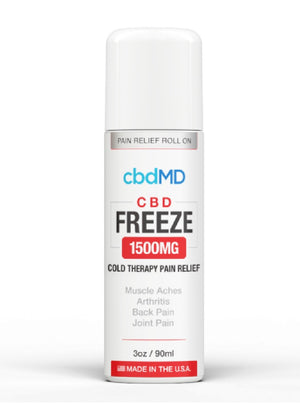 CBD MD Freeze Pain Relief 3oz Roller 1500mg
