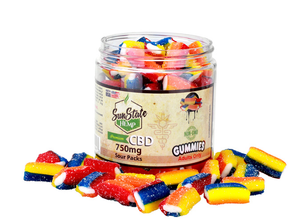 SunState Sour Packs CBD Gummies-750mg