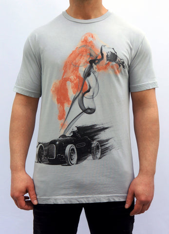 Nasty kustom crafted clothing custom hot rod car moto race sports cool vintage sport drifting drifter nitro slingshot racing drag dragster motorcycle tee graphic