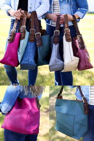 Hobo Tote-MULTIPLE COLORS!