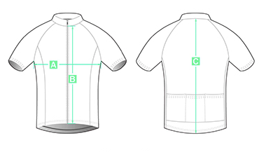 Mens Cycling Jersey Sizing Image