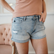 Hazel High Rise Denim Shorts - Cloth + Cabin