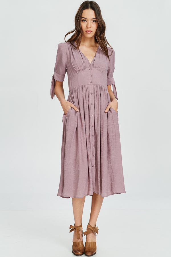 Rae Button Down Midi Dress - Cloth + Cabin