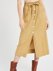 Jayne Linen Skirt - Cloth + Cabin