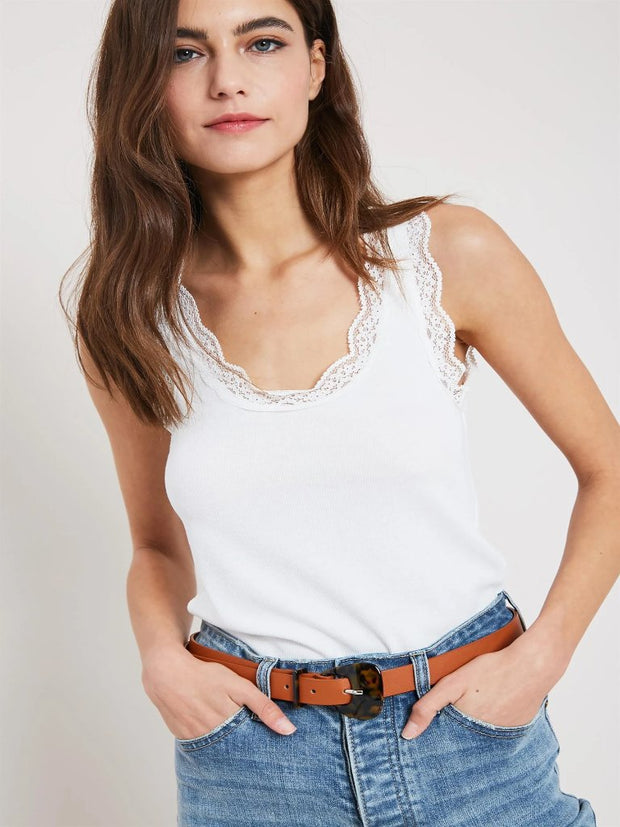 Emme Lace Trimmed Tank - Cloth + Cabin