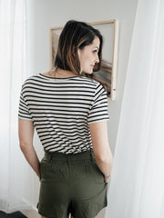 Everyday Striped Scoop Neck Tee - Cloth + Cabin