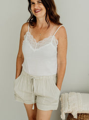 Andrea Tencel Drawstring Shorts - Cloth + Cabin