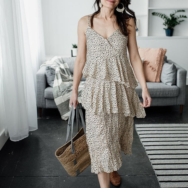 Mae Tiered Crush Layered Dress - Cloth + Cabin