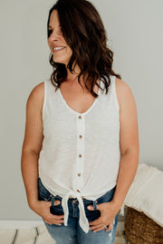 Daisy Tie Front Button Down Top - Cloth + Cabin