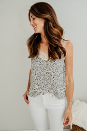 Lacey Printed Cami Top - Cloth + Cabin