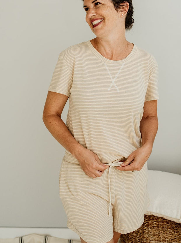 Ainsley Stripe Pajama Lounge Wear Set - Cloth + Cabin