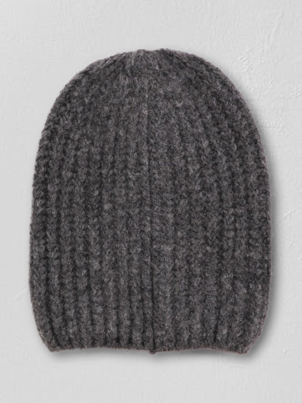Fuzzy Ribbed Knit Beanie - Cloth + Cabin