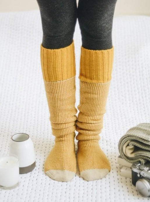 Knee High Knit Lounge Socks