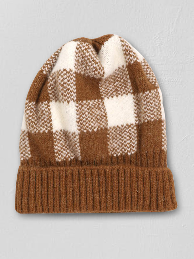 Checkered Plaid Beanie - Cloth + Cabin