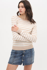 Soleil Striped Lightweight Knit Pullover - Cloth + Cabin