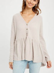 Ivy V-Neck Peplum Top - Cloth + Cabin