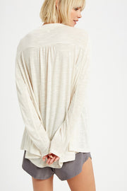 Amelia V-Neck Button Down Knit Top - Cloth + Cabin
