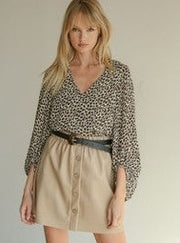 Margaret Leopard Print Blouse - Cloth + Cabin