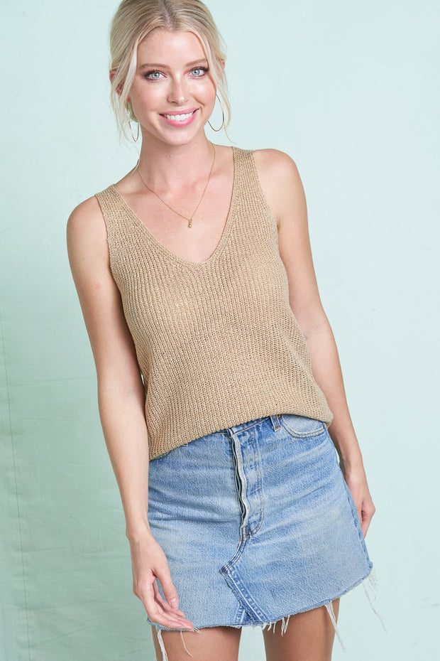 Kasey Warm-Weather Knit Tank Top - Cloth + Cabin