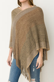 Lori Frayed Hem Poncho - Cloth + Cabin