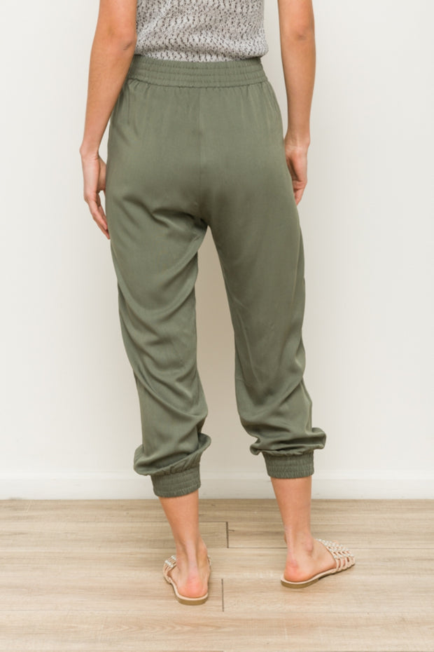 Olive Joggers - Cloth + Cabin