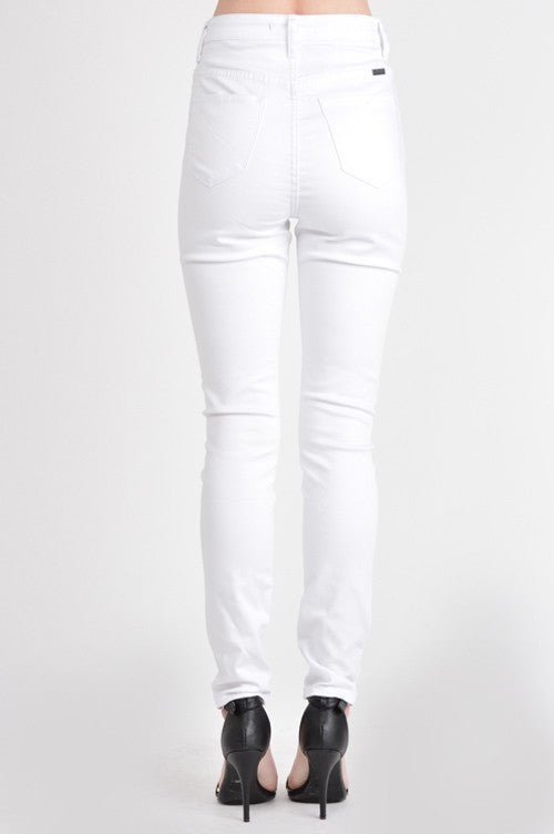 Gemma White High Rise Skinny Jean - Cloth + Cabin