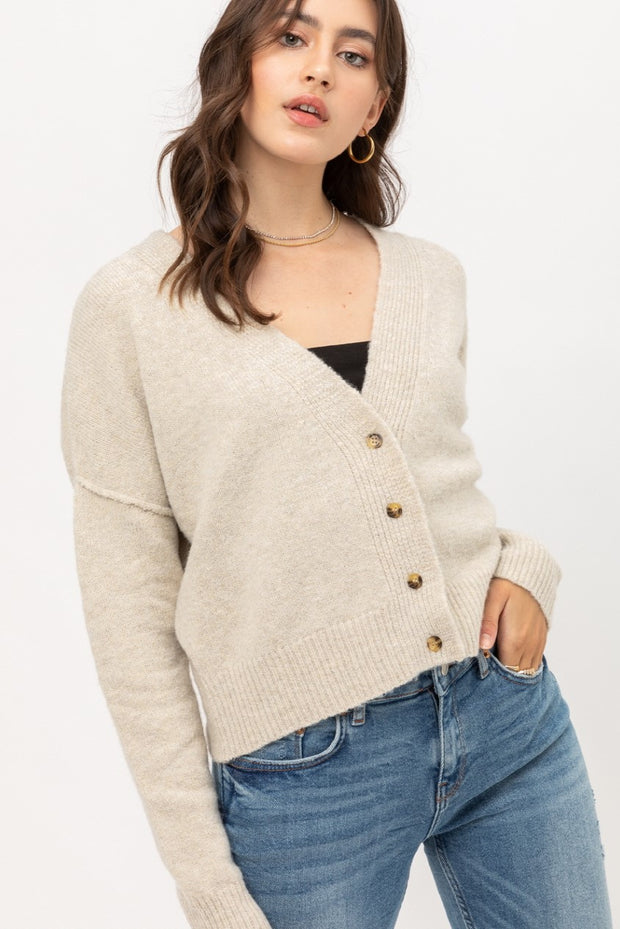 Francis Button Down Cropped Cardigan