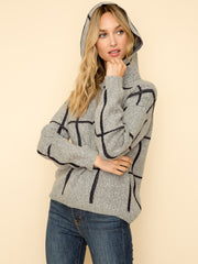Eira Windowpane Hooded Pullover - Cloth + Cabin