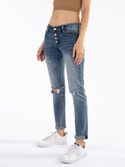 Benny Mid Rise Girlfriend Jean - Cloth + Cabin