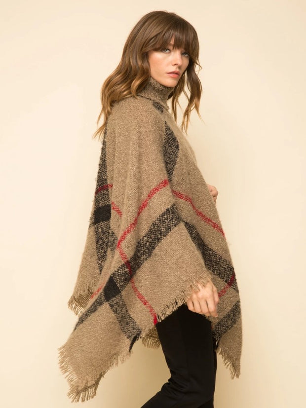 Nicole Turtle Neck Cape Sweater - Cloth + Cabin