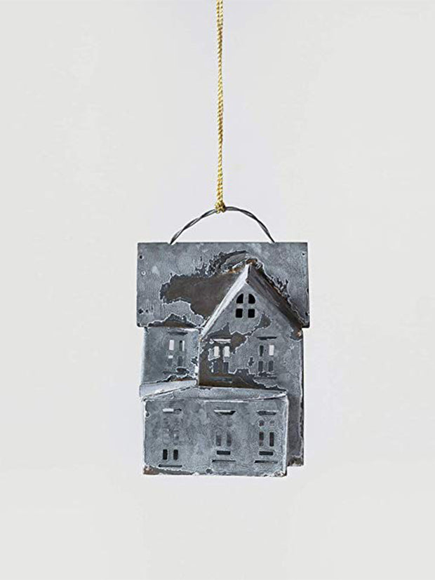 Metal House Ornament - Cloth + Cabin