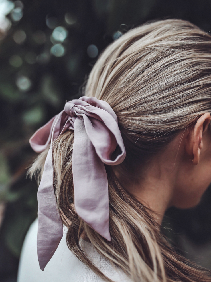 Top It Off With A Bow Scrunchie - Cloth + Cabin